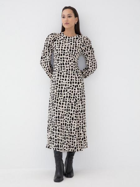 Платье с воланом из вискозы - фото 2
