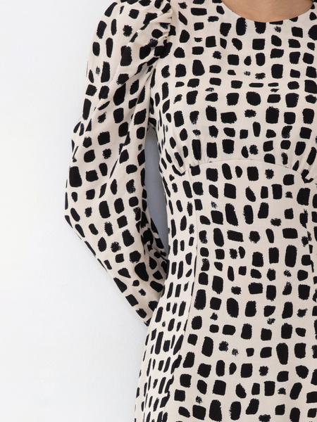 Платье с воланом из вискозы - фото 3