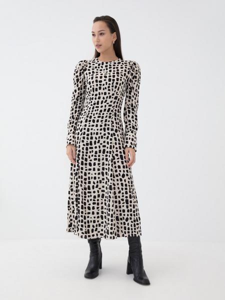 Платье с воланом из вискозы - фото 4