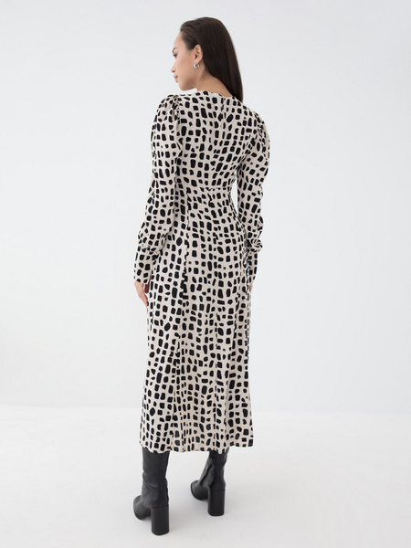 Платье с воланом из вискозы - фото 5