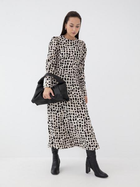 Платье с воланом из вискозы - фото 6