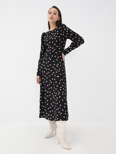Платье с воланом - фото 1