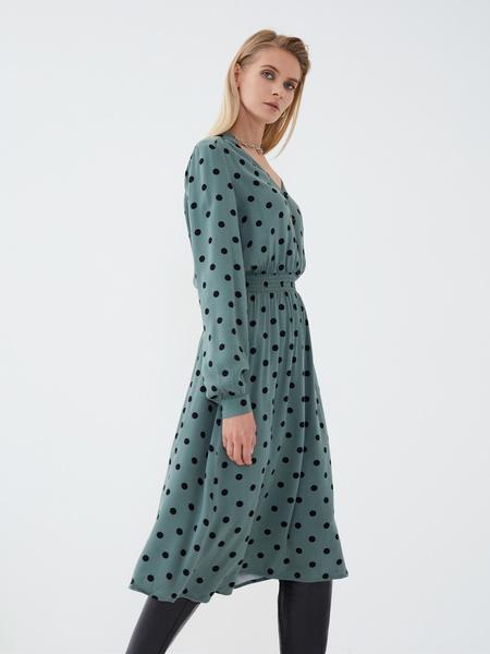 Платье из вискозы с эластичной талией - фото 1