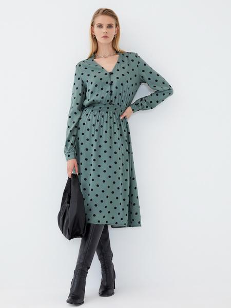 Платье из вискозы с эластичной талией - фото 2