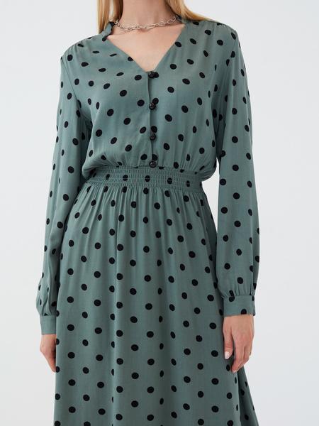 Платье из вискозы с эластичной талией - фото 3