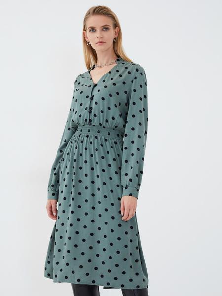 Платье из вискозы с эластичной талией - фото 4