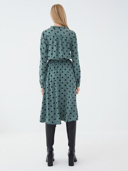 Платье из вискозы с эластичной талией - фото 5