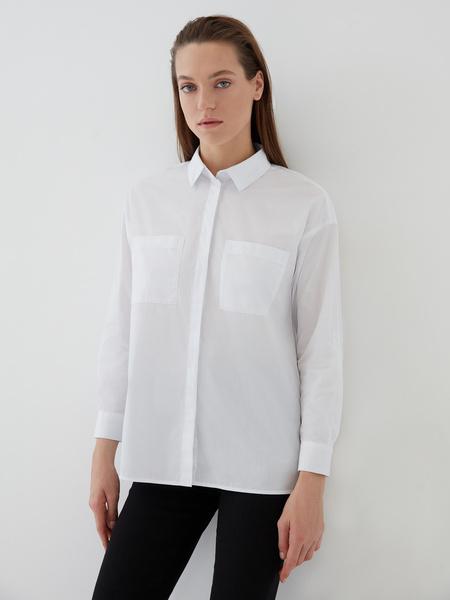 Блузка с карманами на груди - фото 1