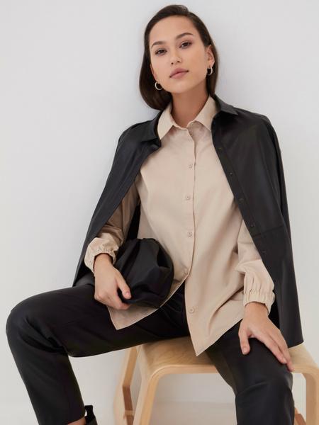 Блузка с резинкой по рукавам - фото 1