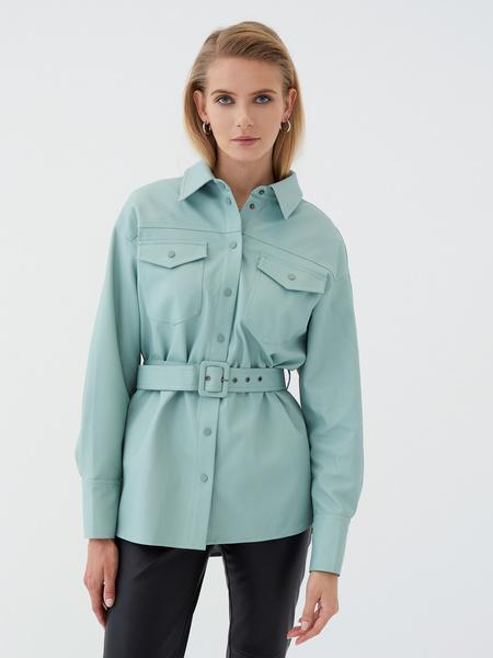 Рубашка из экокожи