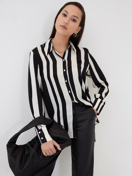 Блузка с принтом - фото 1