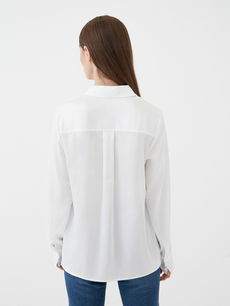 Атласная блузка - фото 7