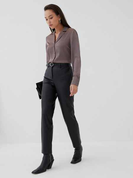 Атласная блузка - фото 2