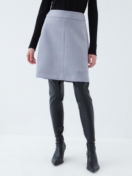 Вельветовая юбка - фото 1