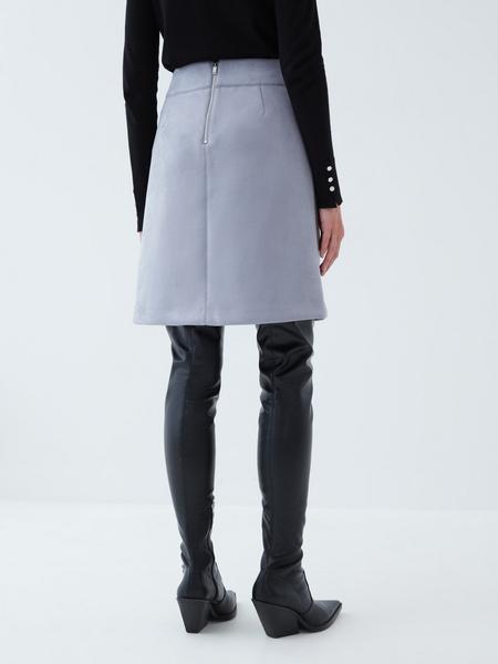 Вельветовая юбка - фото 5