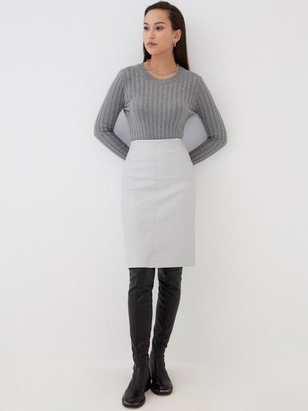 Прямая юбка из экокожи - фото 2