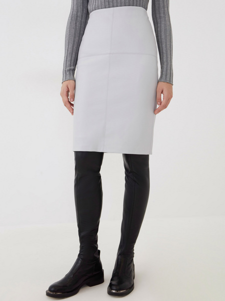 Прямая юбка из экокожи - фото 3