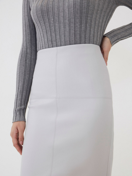 Прямая юбка из экокожи - фото 4