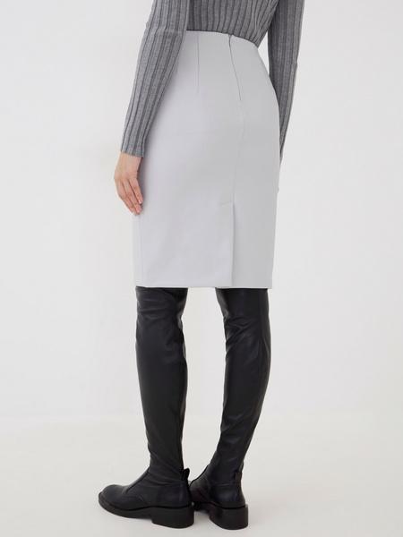 Прямая юбка из экокожи - фото 5