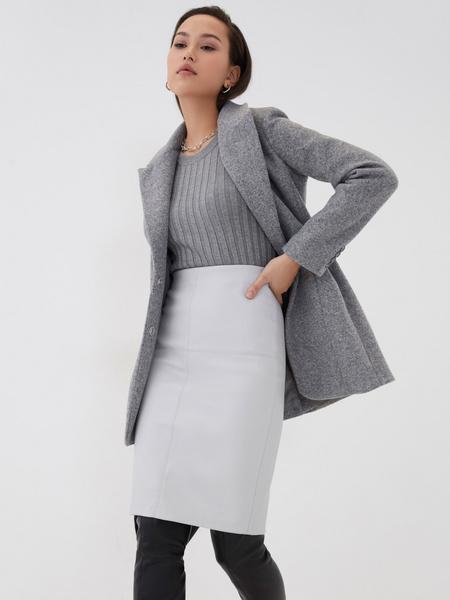Прямая юбка из экокожи - фото 6