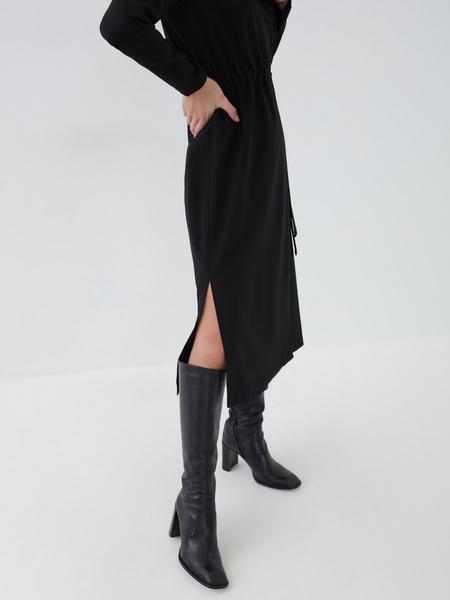 Платье с резинкой на талии - фото 4