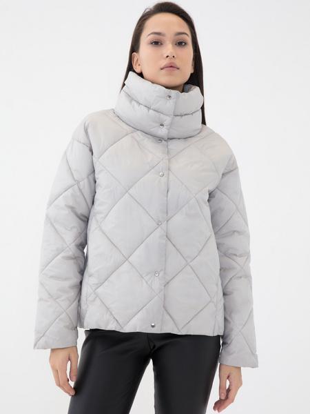 Стёганая куртка с воротником-стойкой - фото 1
