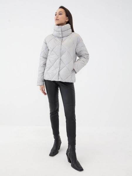 Стёганая куртка с воротником-стойкой - фото 2