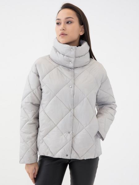 Стёганая куртка с воротником-стойкой - фото 4