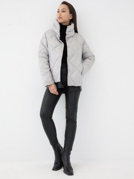 Стёганая куртка с воротником-стойкой - фото 5