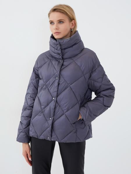 Стёганая куртка с воротником-стойкой - фото 3