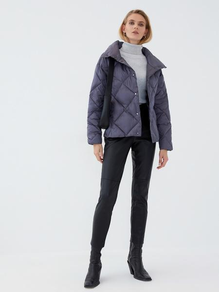 Стёганая куртка с воротником-стойкой - фото 6