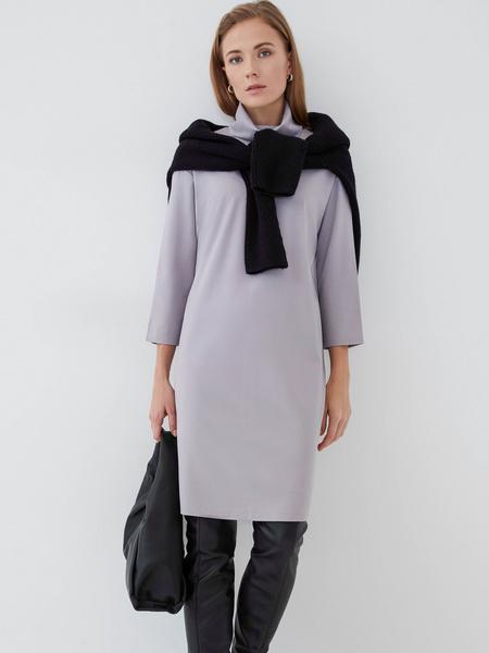 Прямое платье из вискозы - фото 1