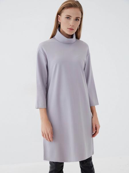 Прямое платье из вискозы - фото 2