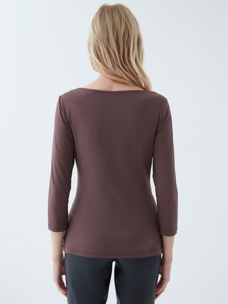 Блузка с треугольным вырезом - фото 6
