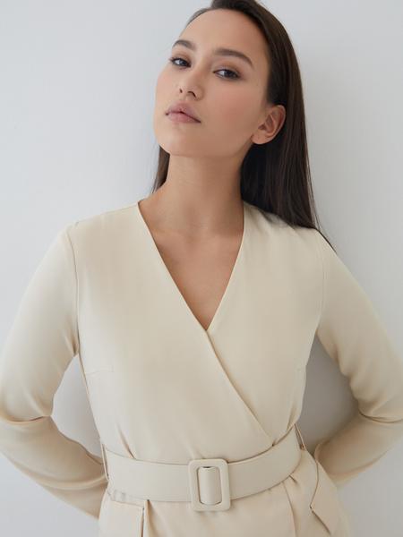 Платье-макси на запах - фото 4