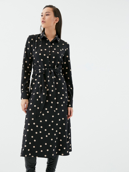 Платье с поясом-узлом - фото 3