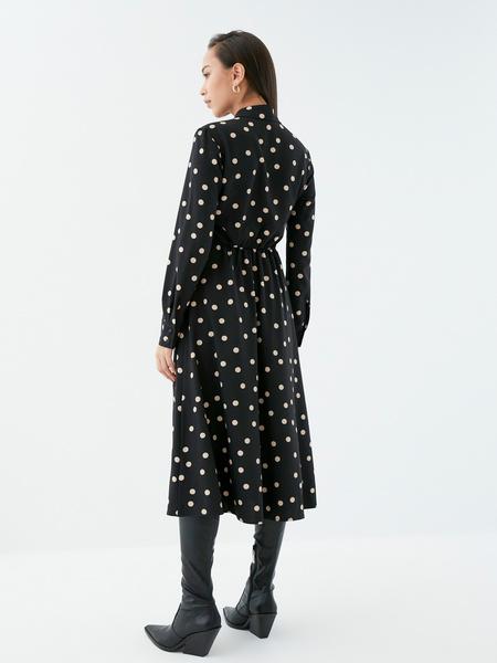Платье с поясом-узлом - фото 6