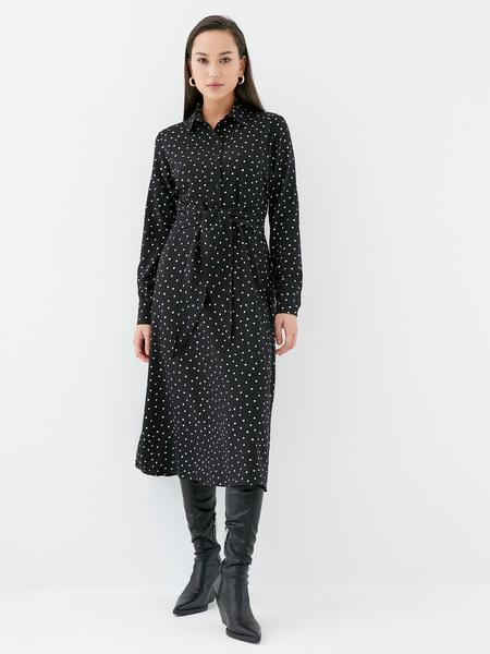 Платье с поясом-узлом - фото 4