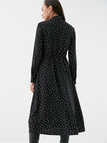 Платье с поясом-узлом - фото 5