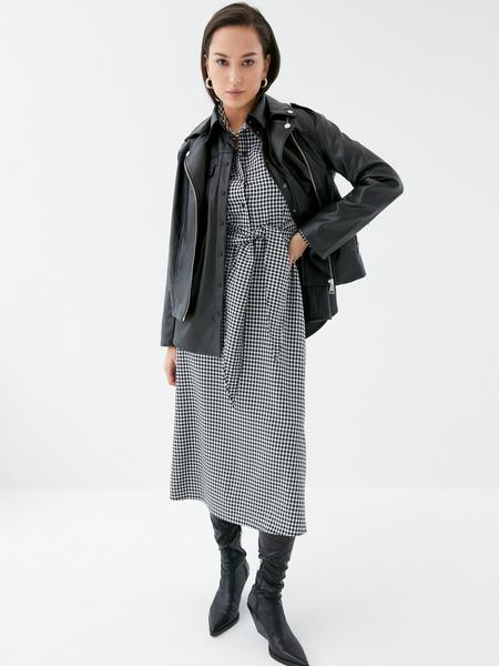 Платье с поясом-узлом - фото 1