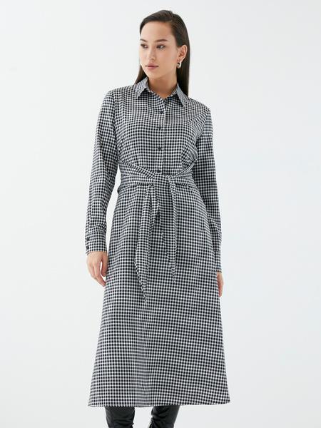Платье с поясом-узлом - фото 2