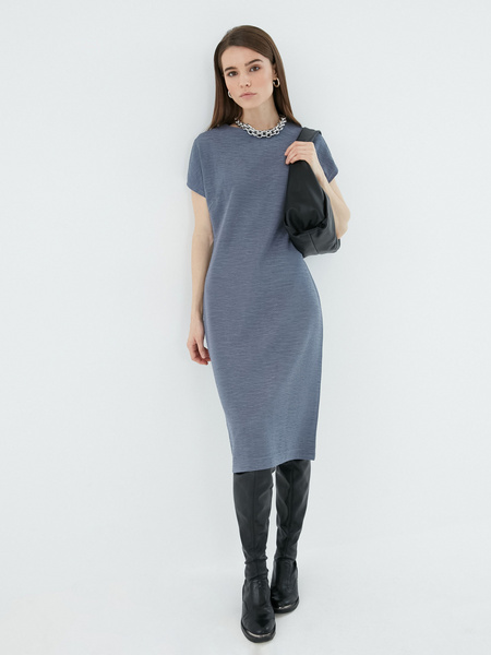 Платье с коротким рукавом - фото 1