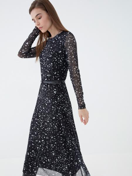Платье-миди с длинным рукавом - фото 4