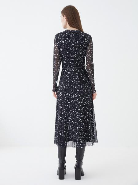 Платье-миди с длинным рукавом - фото 5