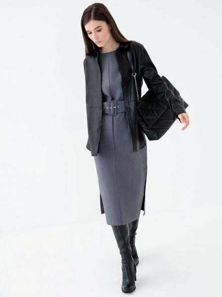 Платье с поясом - фото 8