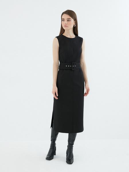 Платье с широким поясом - фото 3