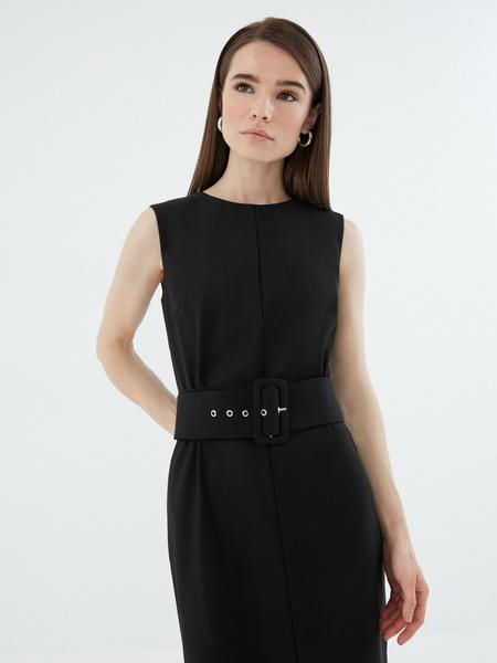 Платье с широким поясом - фото 4