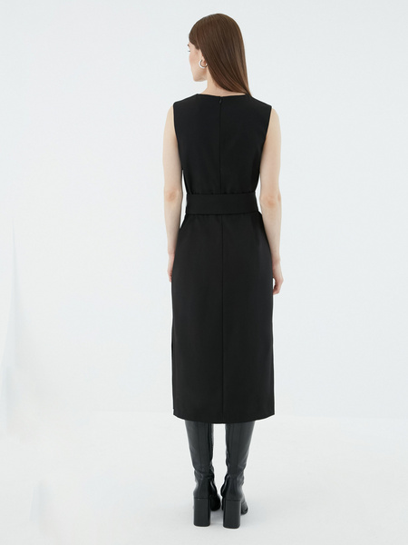 Платье с широким поясом - фото 5