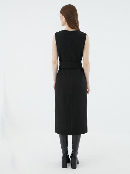 Платье с поясом - фото 5