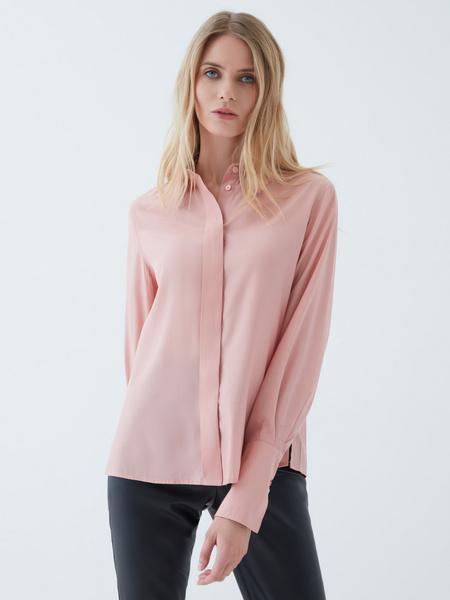Блузка с объемными рукавами - фото 1